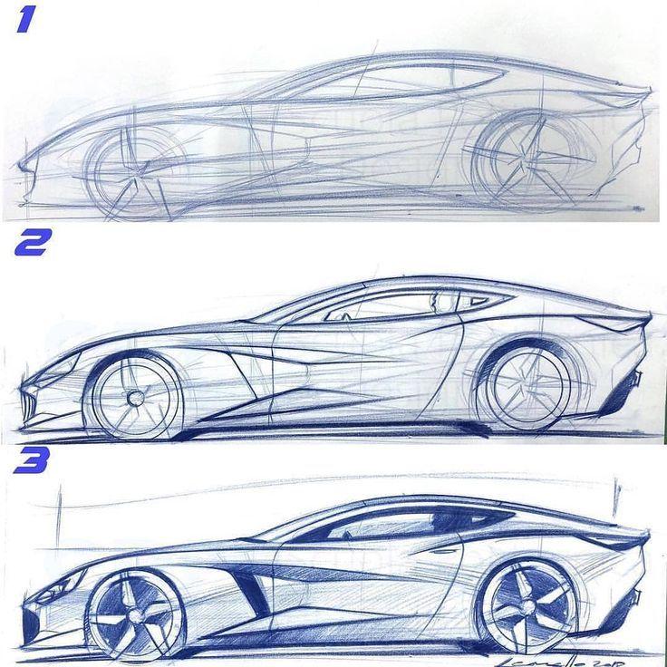 Cardesign Ru Sur Instagram Short 3 Step Demonstration How To Draw Or Design Dessins Drowning Risunok Car Design Sketch Car Design Design Sketch