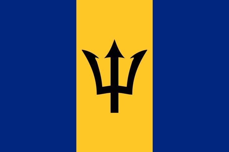 Flag of Barbados - Galeria de bandeiras nacionais – Wikipédia, a enciclopédia livre