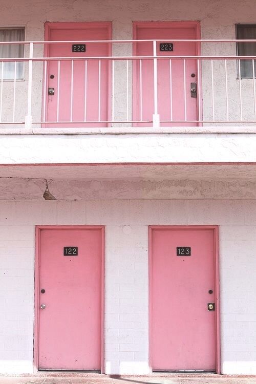 pink + pretty | motel doors