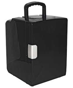 £72.99 20-Liter Black Mini Cooler. Keep cans cold with this glossy black mini fridge, compact and with plenty of space for kitchen essentials. It works well as an 'extra' in the kitchen or for when your home fridge needs a little help. Portable, so ideal for picnics or outside events. Capacity 20-liters. General information: Mains AC and in-car DC adaptor. Size H45.3, W32, D34cm.