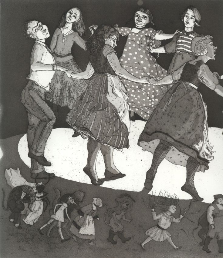 Paula Rego Children and their Stories 1989 etching and Aquatint