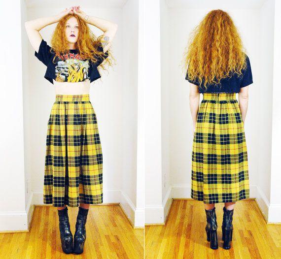 17 meilleures idées à propos de Yellow Plaid Skirt sur Pinterest ...