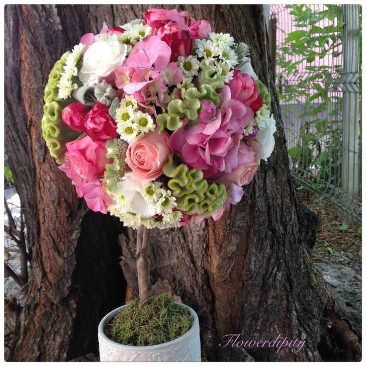 Flowers tree #flowerdipity #tree #elegant #precious #flowers #arrangement