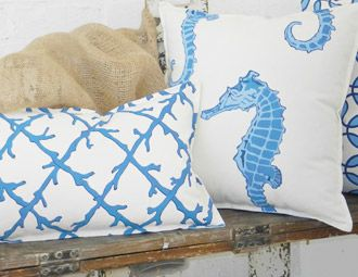 I pinned this from the ecoaccents - Coastal Chic Pillows, Totes & Storage event at Joss and Main!