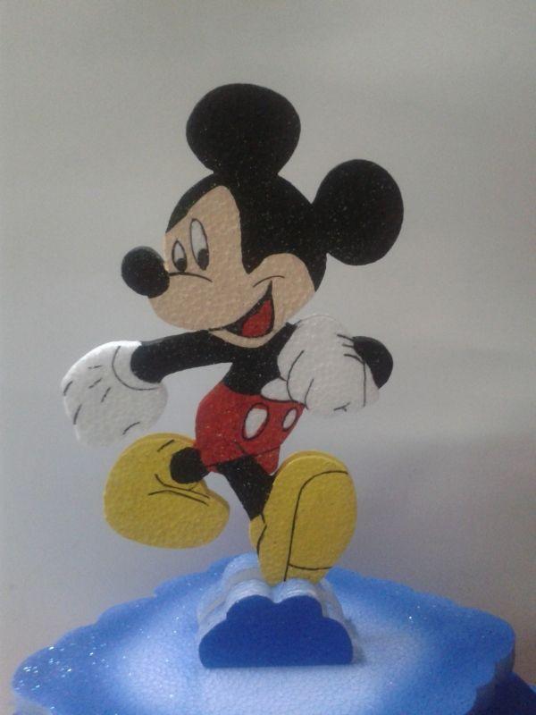 Tortera de Micky Mouse en icopor para decorar tu ponque. #FiestasInfantiles #DecoracionesFiestas