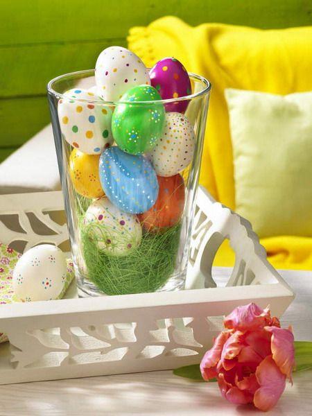 Pretty decorated eggs