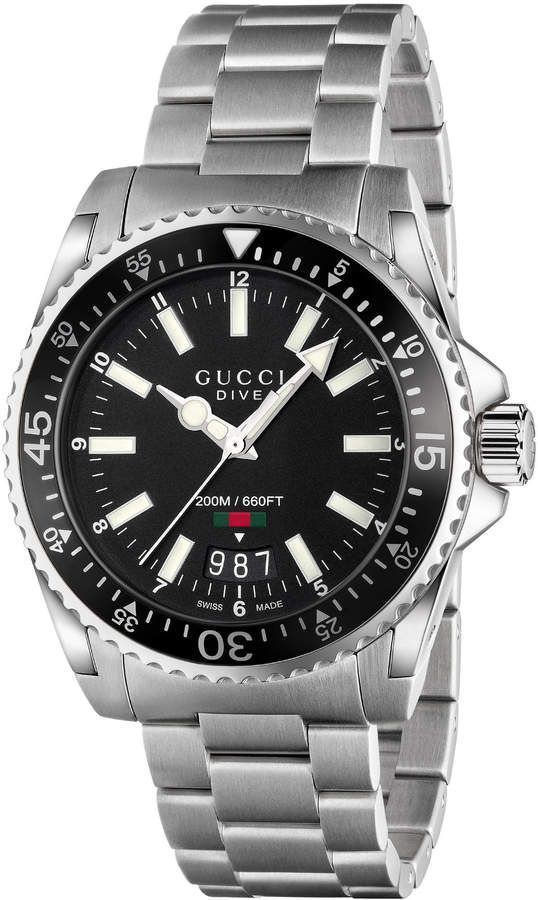 Gucci Dive, 40mm  mens watches, mens watches affordable, mens watches under $200, mens watches 2018, mens watches popular, mens' watches, men's watches #menswatchesaffordable