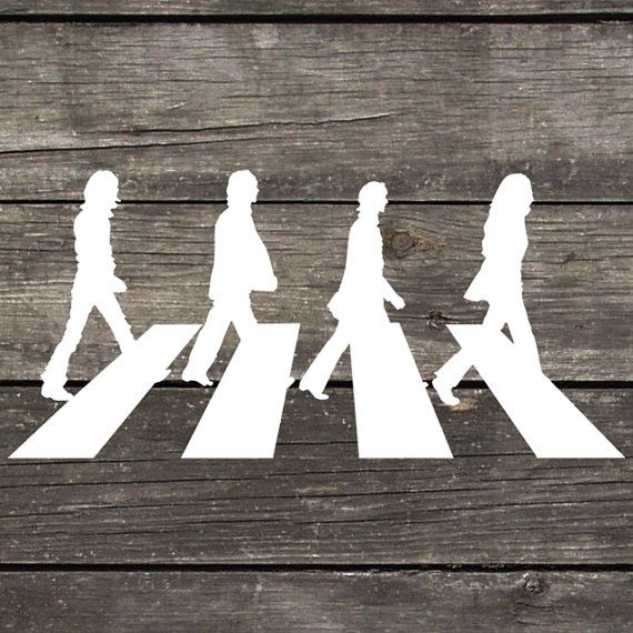 Beatles abbey road decal made of premium indoor outdoor vinyl perfect for car windows or