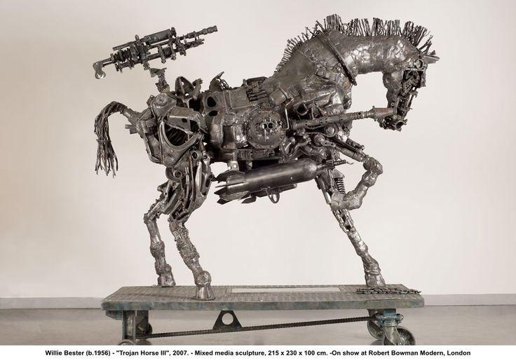 "Willie Bester, ""Trojan Horse III"", 2007. - Mixed media sculpture."