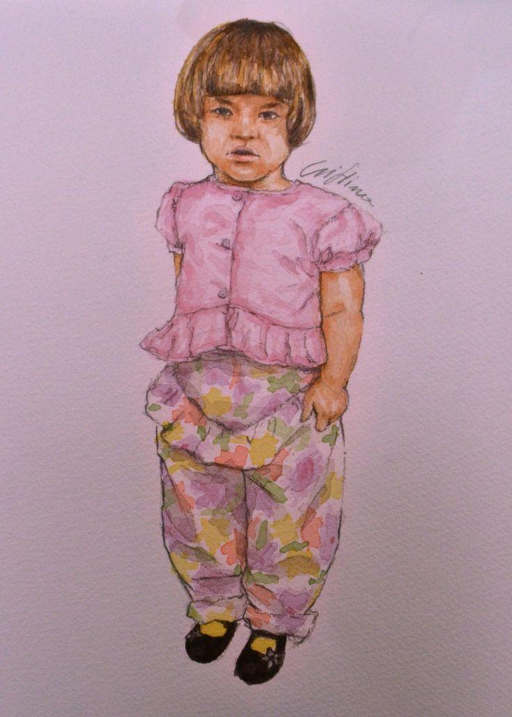 Little girl in watercolor, Cristina Forte on ArtStation at https://www.artstation.com/artwork/little-girl-in-watercolor