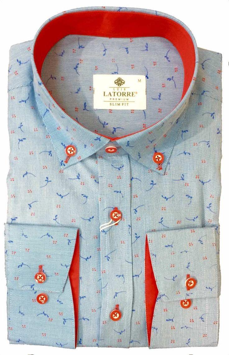 Синяя текстурная рубашка