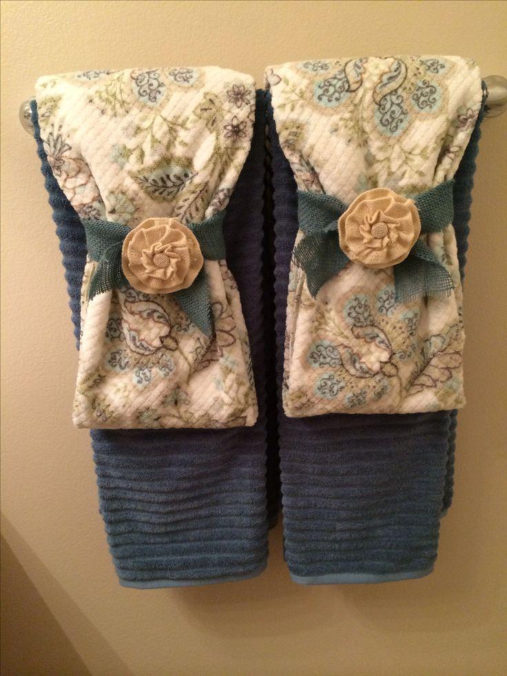 Best 25 bathroom towel display ideas on pinterest towel - Decorative hand towels for bathroom ...