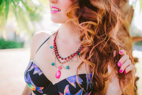 Taste the Rainbow Neon Rhinestone Necklace