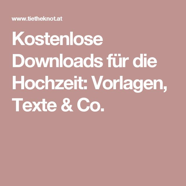 Kostenlose Downloads Für Die Hochzeit: Vorlagen, ...