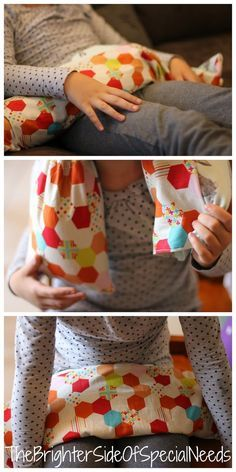 How to make a DIY weight cushion or blanket to provide deep pressure for proprioceptive input and feedback. Pinned by The Sensory Spectrum pinterest.com/sensoryspectrum