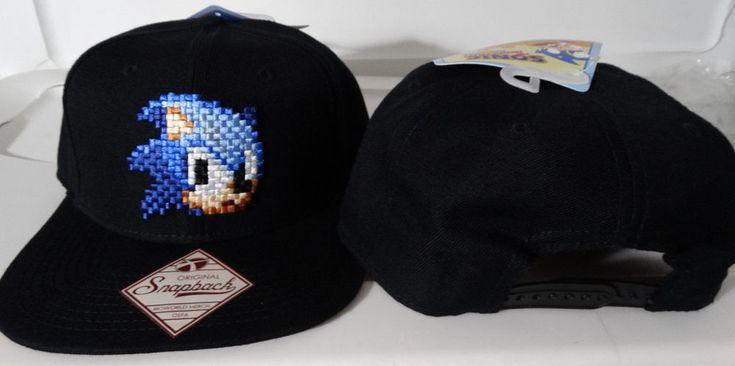 Sonic The Hedgehog Sonic 8 Bit Sega Video Game Snap Back Hat  #SEGA #SnapBack
