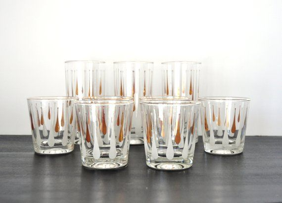 Reserved For Mel Set Of Six Rocks Glasses Glasses Shot Glass Rock