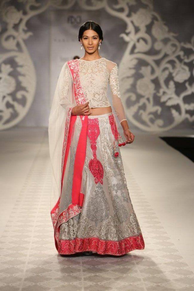 Varun Bahl at India Couture Week - pink and ivory lehnga
