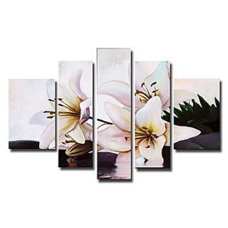 Lovely Lily Oil Painting - Set of 5 - Free Shipping