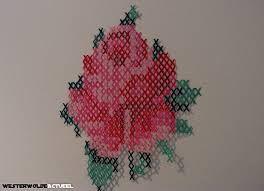 kruissteek roos - Google Search