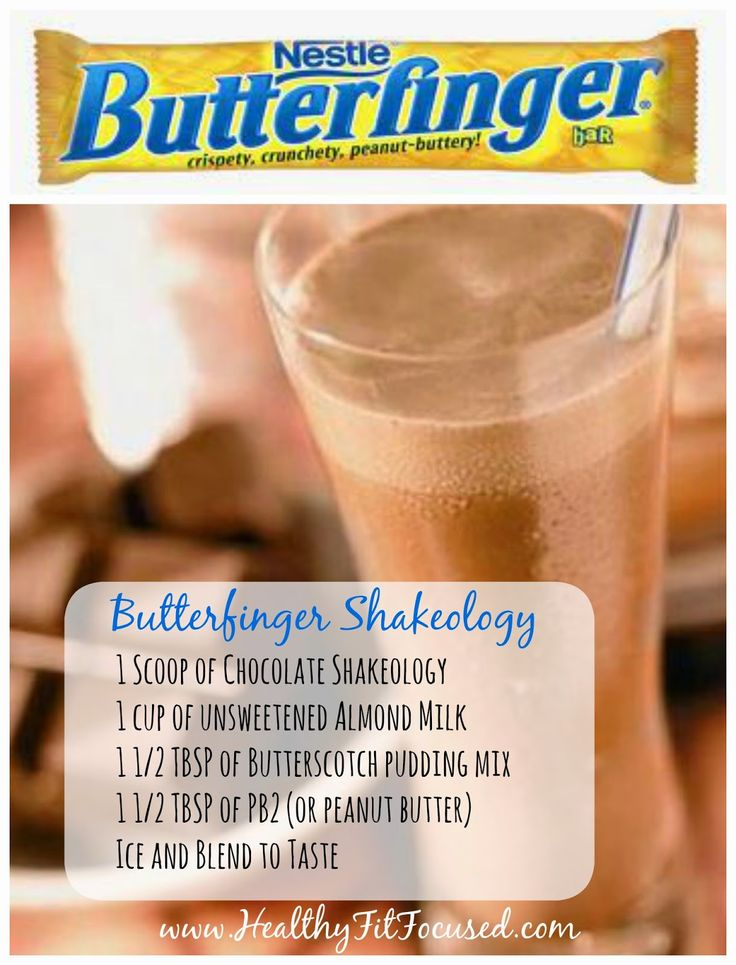 Healthy Halloween Candy Bar Shakeology Recipes: Butterfinger Shakeology www.HealthyFitFocused.com