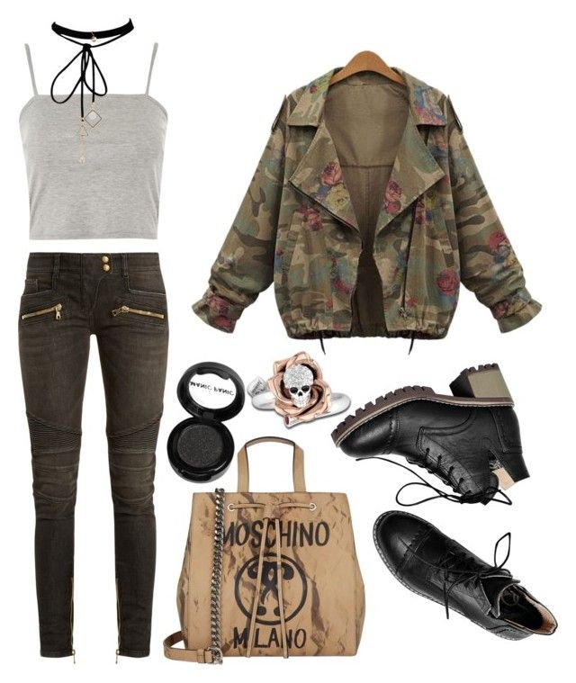"""""""outfit"""" by kwharmony on Polyvore featuring Topshop, Balmain, Moschino, WithChic and Manic Panic NYC"""