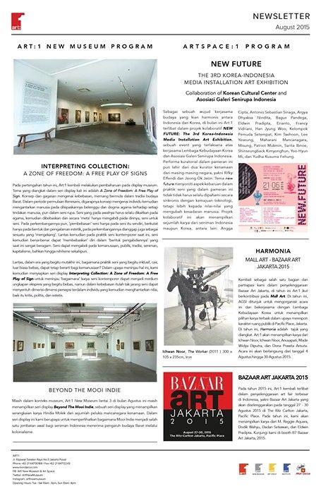 ART:1 Newsletter August 2015