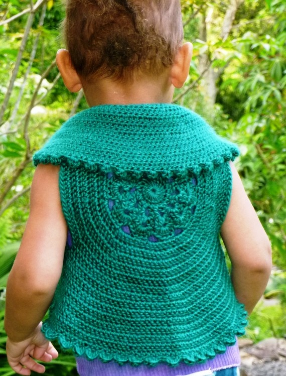 Crochet Patterns For Childrens Vests : Cute Elfy Toddlers Crochet Vest Maybe my next will be a ...