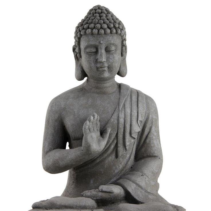 31 best buddha garden ornaments by gardens2you images on pinterest 30cm grey stone look fibreclay sitting buddha garden statue ornament workwithnaturefo