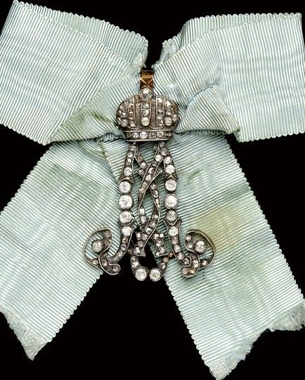 An insigna for Maid of Honor of Empress Maria Fedorovna  Russia, last quarter of the 19th Century