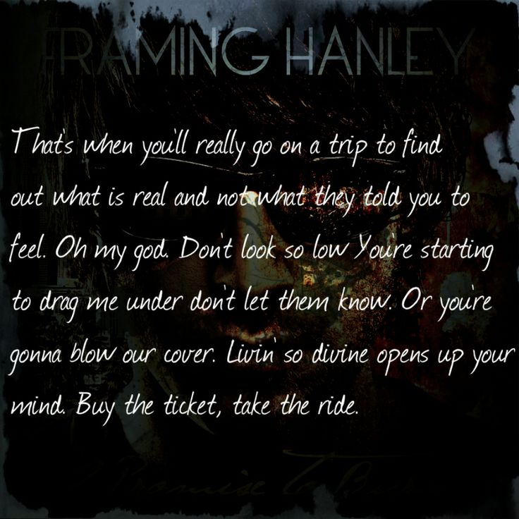framing hanley lyric