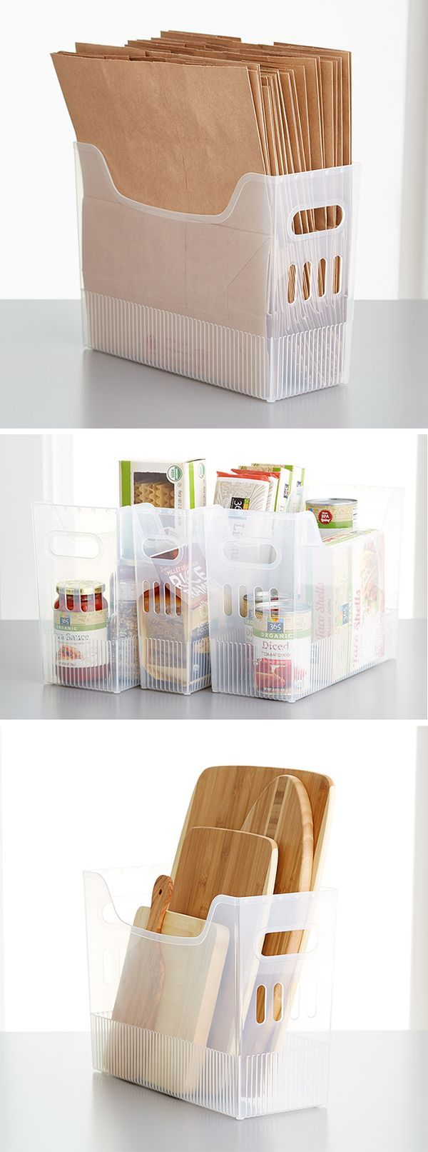 Our Multi-Purpose Bins can store magazines, pantry essentials, kitchen gadgets, crafts and more! Check it out on Container Stories.