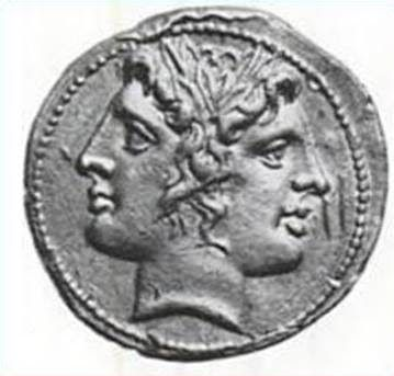 Janus - in the Roman archaic pantheon, he was often invoked together with Iuppiter (Jupiter = Greek Zeus, son of Saturn)
