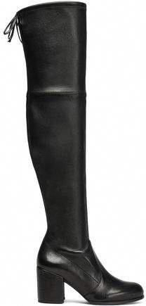 5b76801888a Stuart Weitzman Tieland Stretch-Leather Over-The-Knee Boots  StuartWeitzman