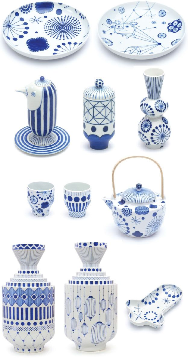 A playful collection of blue and white ware designed by Jaime Hayon.