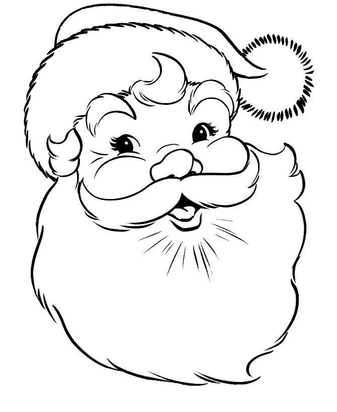 face of santa claus coloring pages christmas coloring pages kidsdrawing free coloring pages online - Christmas Coloring Pages Kids