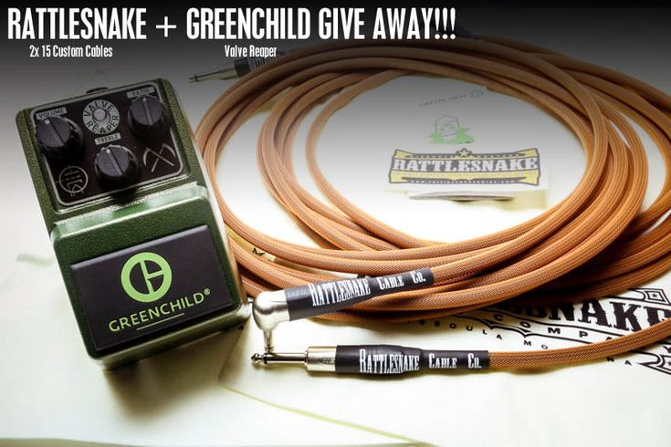 Win Rattlesnake Cable Company - pair of 15' Custom Cables and Greenchild Valve Reaper (combined retail value of $339)