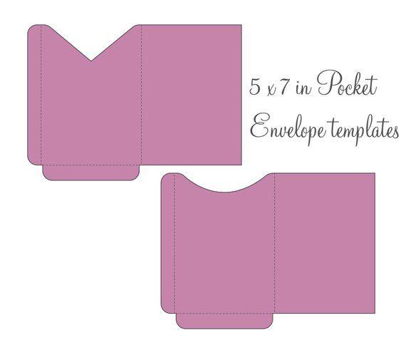 5x7 envelopes template - Pinarkubkireklamowe