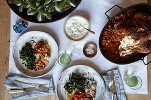 Anna Hansen's recipe for chorizo chicken with preserved lemon yoghurt and cavolo nero | A taste of home | Life and style | The Guardian