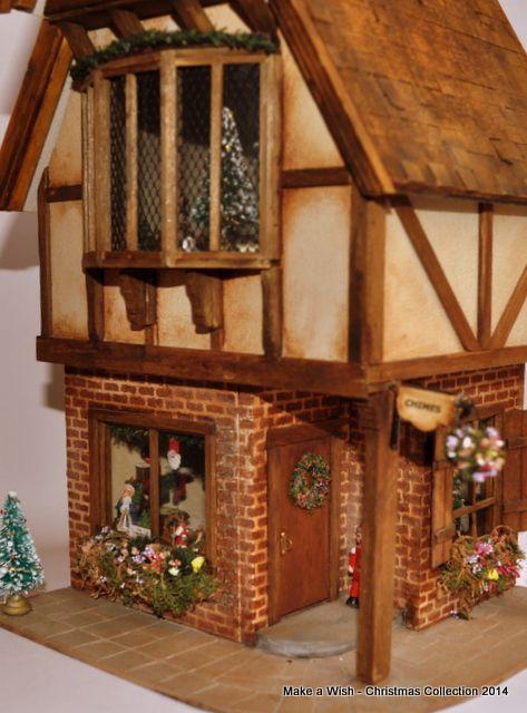 Half scale kris kringle shop workshop by roz crouch petit connoisseurs south african artisan miniature christmasdollhouse miniaturesdollhousessouth