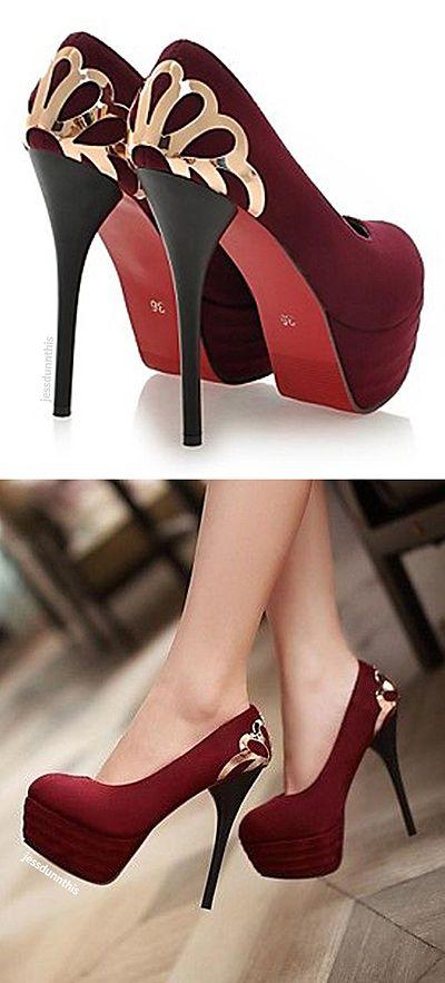 Deco heels - Marsala Pantone Color of the Year 2015 shoes!