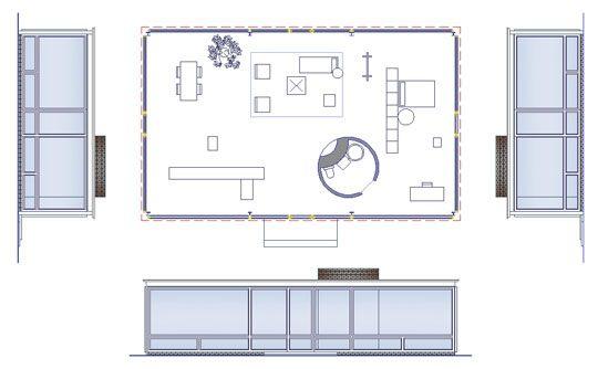 Philip Johnson Glass House Dimensions | Potete avere il file dwg, versando la quota di 12,00 euro cliccando ...