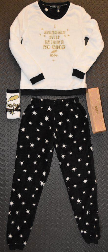 PRIMARK HARRY POTTER PJ SOLEMNLY SWEAR Pyjamas SUPERSOFT With Socks Size 6 - 20