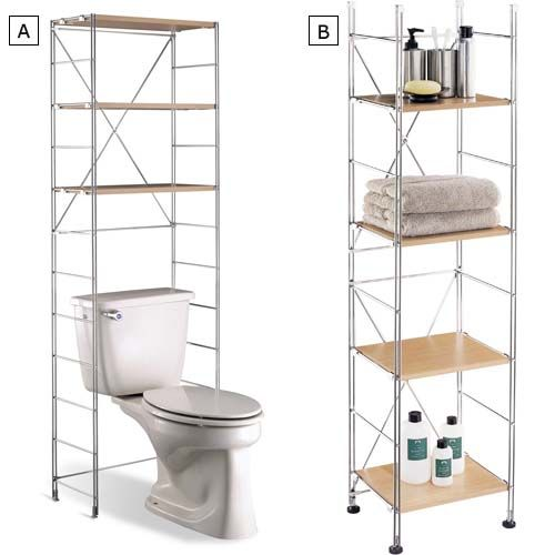 Bathroom Storage Organizer Slim Space Saving Rolling