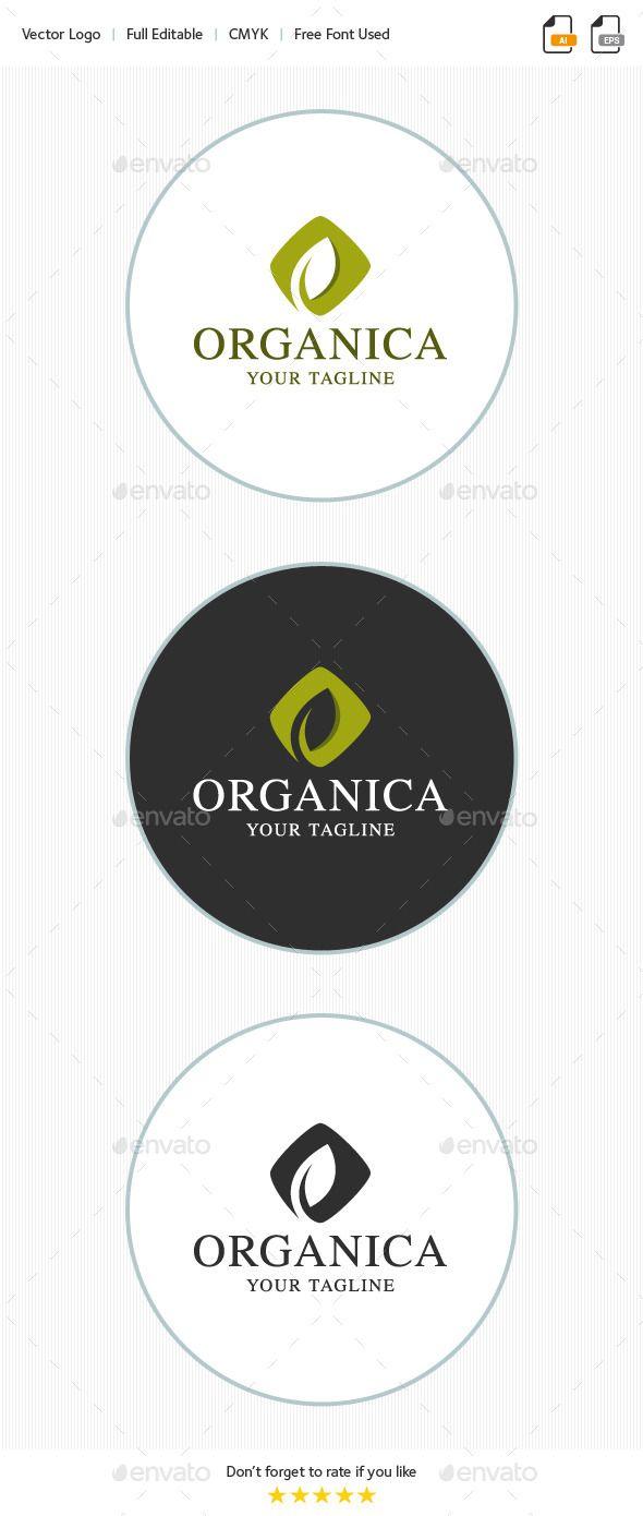 Organica Leaf - Logo Design Template Vector #logotype Download it here: http://graphicriver.net/item/organica-leaf-logo/9962914?s_rank=1437?ref=nesto