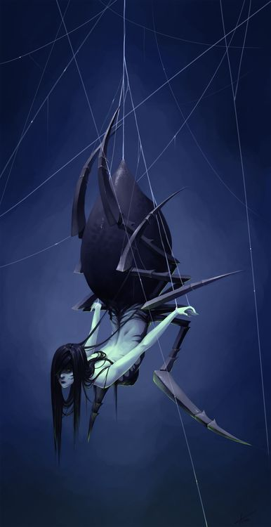 Monster 6 - Spider Girl by ~Myrmirada. (This looks like a dark souls boss, hence the repin):