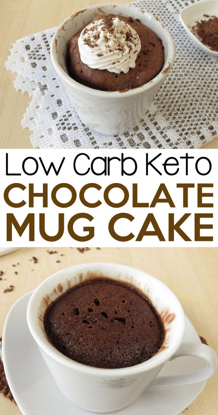 Easy healthy low carb keto chocolate mug cake no-bake ...