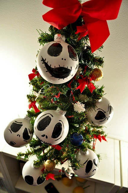 diy jack skellington ornaments danielle lampert speziali heather creswell matchett halloween ornamentsdiy ornamentsholidays halloweenchristmas - Halloween Christmas Decorations