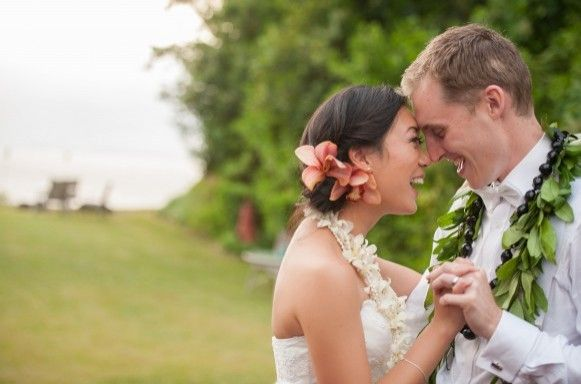 Just Married in Maui! Bride & Groom Happiness.