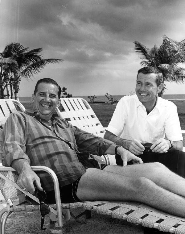Ed McMahon and Johnny Carson at Fort Lauderdale, Florida